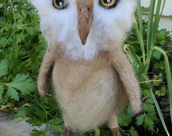 Felted Sweet Baby  Owlette Owl