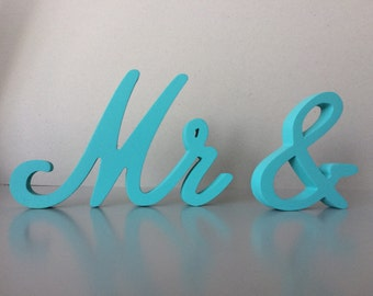 Blue, wedding signs, mrs and Mr and Mr and Mrs  Mrs and Mrs  wedding glitter wood signs for table, wedding table signs Mrs and Mr
