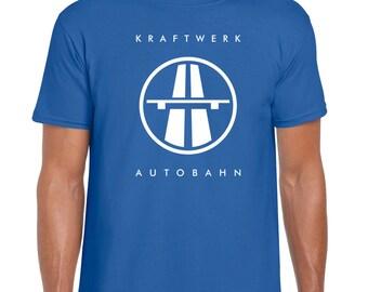 Kraftwerk - Autobahn | Krautrock | Classic | Germany | Retro | 70's | Blue | T-Shirt
