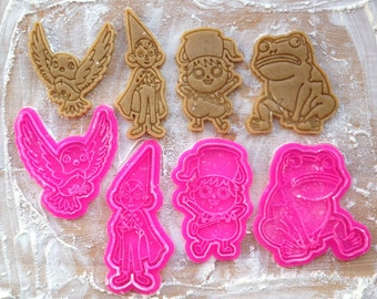 Over the Garden Wall cookie cutters set. 4 cookie stamps in set. Beatrice, Greg, Wirt, Frog cookies