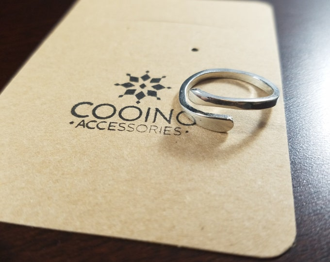 14Kgp Silver Antique Adjustable Ring. Nickel Free