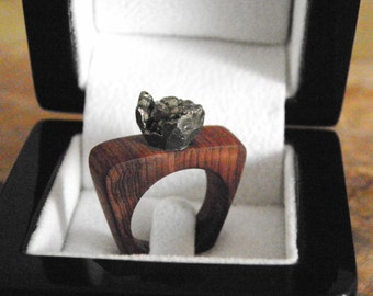 Juniper Tree Massive Wooden Ring Genuine Handcrafted