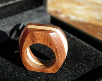 Indian Rosewood & Maple Tree Wood Ring for the gentlemen