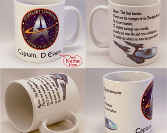 Personalised Star Trek Gift, Any Name, Present Gift Idea Personalized Birthday Gift