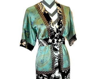 Vintage 100% Silk Tie Back Blouse