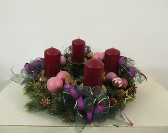 Advent wreath in purple