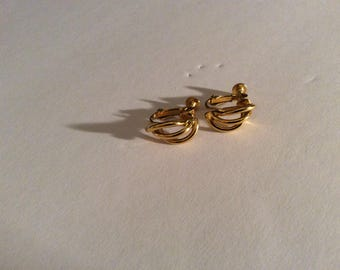 Napier Gold Tone Earrings