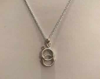 Double Circular Wire Pendant