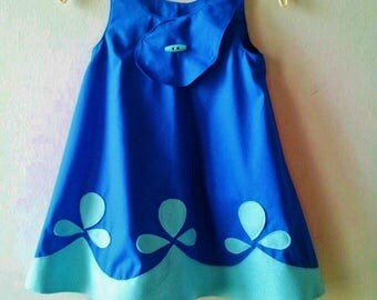 Poppy Troll Blue Costume Dress for Birthday Party Dress Up Photo Prop Princess Poppy