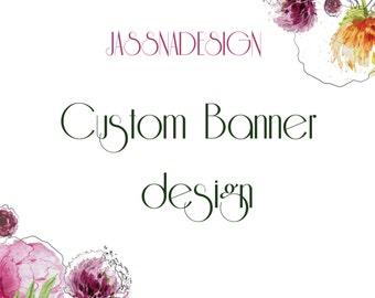 Custom banner design - Promotional banner  - Banner add design - Custom website banner -  Custom blog banner