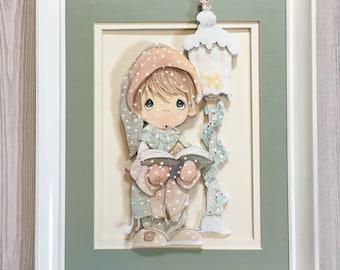 Nursery wall art, Winter nursery theme, Precious moments, Baby wall print, Boy nursery decor