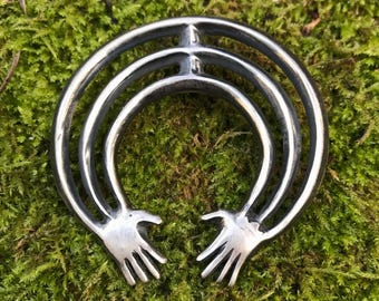 Sterling Silver Arms and Hands Naja