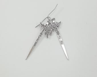 Warrior Earrings, Battle Axe Earrings, Weapon Earrings, Medieval Sword Earrings
