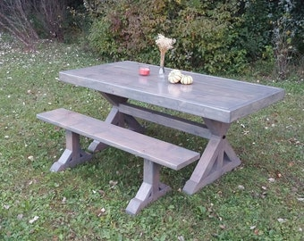 Farm House Table, Farm House Bench, Trestle Table, Farm Table, Dine Table