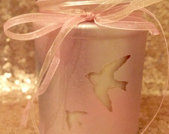 Love Birds Lilac Candle