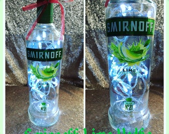 Smirnoff Lime Vodka Bottle lighgt
