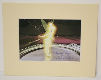 Margaret Kerry, The Model for Disney's Tinker Bell, Signed, Autograph 5x7 with Mat 8x10