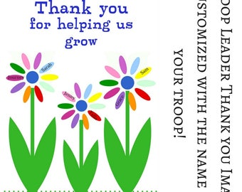 Daisy Girl Scout Troop Leader Thank You Sign Customizable