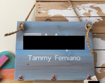 Rectangular rustic cedar boutique sign - Chalk painted and customizable