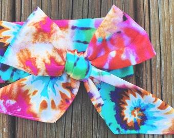 70s Baby Head Wrap : Tie Dye Head Wrap - Evamour Head Wrap