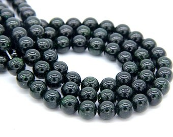 Green Sandstone Beads 8mm Sandstone Beads Green Beads Emerald Green Bead for Men Women Bracelet Necklace Mala Beads Sandstone Jewelry Supply