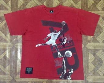 Stunning AIR JORDAN Flight Michel Jordan Jumpman Basketball T Shirt Sz Medium