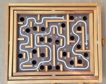 Vintage 1980s Labyrinth board game from Sweden, perfect for your next game night
