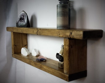 reclaimed wood shelf - wooden wall Shelf - Rustic Shelves - Double Shelf - Shelving - floating shelf - Wall Shelves  - Wood Shelf