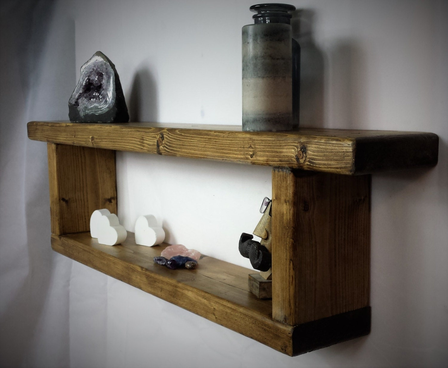 reclaimed wood shelf wooden wall shelf rustic shelves. Black Bedroom Furniture Sets. Home Design Ideas
