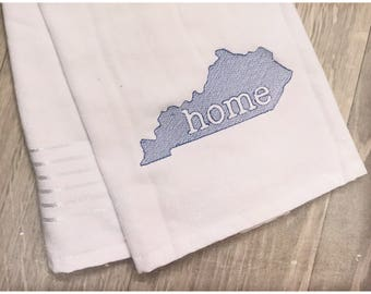 Kentucky Home Kitchen Hand Towel Embroidered