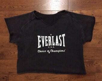 Everlast Boxing Sweatshirt- Grey-80's/90's Vintage Streetwear Rocky Balboa