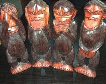 Four wise monkeys ( See no evil, speak no evil, hear no evil and do no evil)