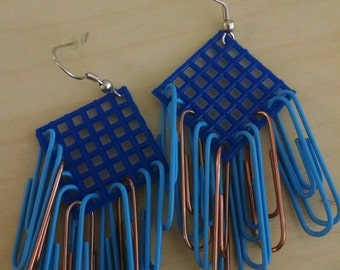 Large Ravenclaw Earrings (mostly blue)