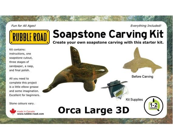 Orca soapstone kit large from rubbleroadsoapstone on