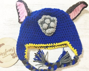 Chase Beanie - Paw Patrol Inspired