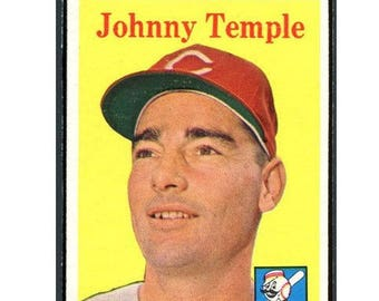 Vintage 1958 Topps #205 Johnny Temple Gd-Vg