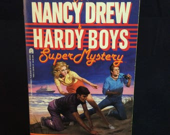 A Nancy Drew and Hardy Boys Super Mystery - Double Crossing - 1988 vintage paperback book