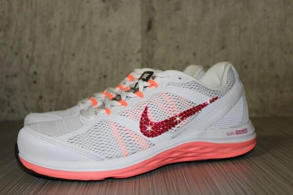 durable service Bling Women s Nike Dual Fusion Run 3 White by  DiamondsOnMyFeet d36220614