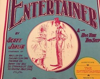Vintage The Entertainer by Scott Joplin 1972 Music sheet