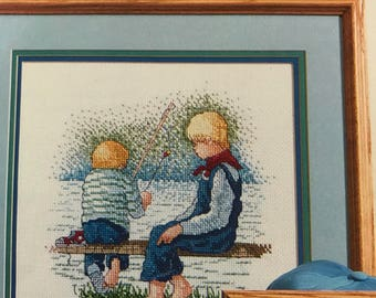 Vintage Counted Cross Stitch Child's Play pattern book
