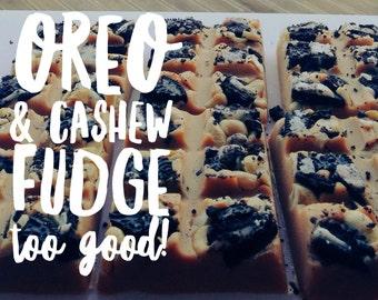 Oreo and Cashew Fudge