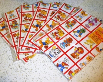 CLEARANCE SALE!! Vintage Get Along Gang Wrapping Paper NOS - 8 packages!