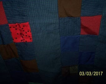 quilt top or project, wool and cotton