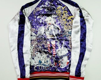 Rare Japan DMM Anime Fuji SHIMAKAZE Destroyer Sakura Kantai Collection Kadokawa Games Sexy Moe Anime Girl Embroidery Sukajan Jacket SK1535