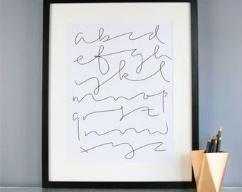 Just a Line - Alphabet