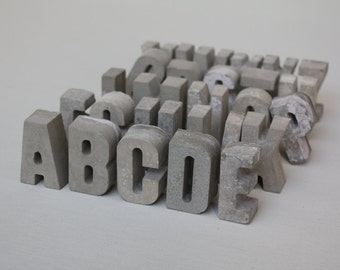 CONCRETE LETTERS & NUMBERS