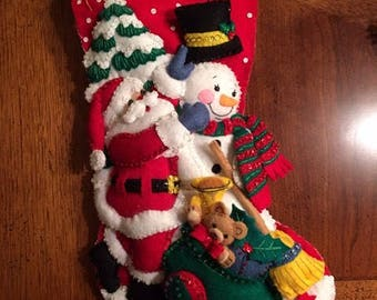 Handmade Christmas Stocking .
