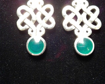 Hand crafted Sterling Silver Celtic Earrings
