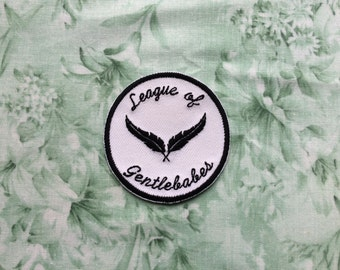 League of gentlebabes iron on embroidered patch