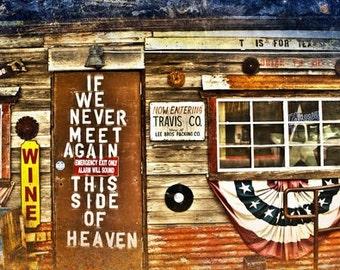 "Austin, Texas - ""Austin Mean Eyed Cat Bar Meet in Heaven""-(image is horizontal)"
